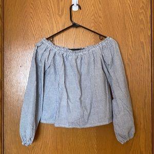 Brandy Melville Striped Off-the-Shoulder Top